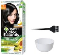 Garnier Color Naturals Nourshing Hair Color Cream (Black, Pack of 3)