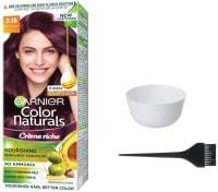 Garnier Color Naturals Nourshing Hair Color Cream (Pack of 3)