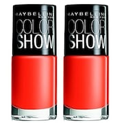 Maybelline Color Show Nail Paint (Orange, Pack of 2)