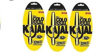 Maybelline Colossal Kajal (Black, Pack of 3)