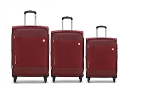 VIP Conquer Luggage (Wine Red, Pack Of 3)