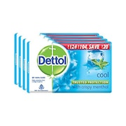 Dettol Cool Bar Soap (75GM, Pack of 4)