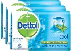 Dettol Cool Bar Soap (375GM, Pack of 3)