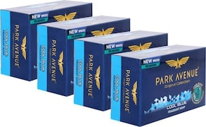 Park Avenue Cool Blue Fragrant Soap (125GM, Pack of 4)
