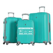 Olympia Corsair Spinner Luggage (Burgundy, Pack of 3)
