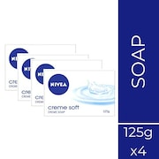 Nivea Creme Soft Creme Soap (125GM, Pack of 4)