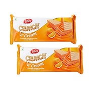 Tiffany Crunch N Cream Wafer Biscuits (Orange, 150GM, Pack of 2)