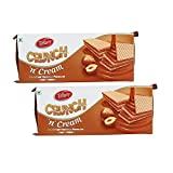 Tiffany Crunch N Cream Wafer Biscuits (Hazelnut, 150GM, Pack of 2)