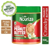 HealthKart Crunchy Peanut Butter With Added Protein (Unsweetened, 500GM)