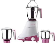 Preethi Daisy MG 201 750 W Mixer Grinder( Pink & White, 3 Jars)