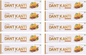 Patanjali Dant Kanti Advanced Toothpaste (100GM, Pack of 10)