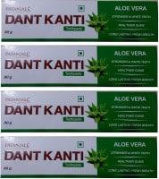 Patanjali Dant Kanti Aloe Vera Toothpaste (80GM, Pack of 4)