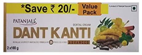 Patanjali Dant Kanti Dental Cream Toothpaste (Pack of 2)