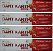 Patanjali Dant Kanti Fresh Active Gel Toothpaste (80GM, Pack of 4)