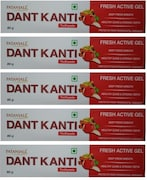 Patanjali Dant Kanti Fresh Active Gel Toothpaste (80GM, Pack of 5)