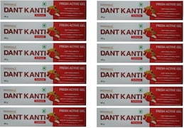 Patanjali Dant Kanti Fresh Active Gel Toothpaste (80GM, Pack of 12)