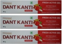 Patanjali Dant Kanti Fresh Active Gel Toothpaste (80GM, Pack of 2)