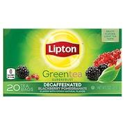 Lipton Decaffeinated Blackberry Pomegranate Green Tea (Pack of 6, 20 Pieces)