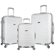 Olympia Denmark Luggage (White, Pack of 3)