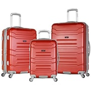 Olympia Denmark Luggage (Wine Red, Pack of 3)