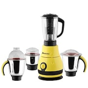 Anjalimix Designo 1000W Mixer Grinder (Yellow, 3 Jar)