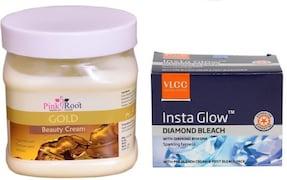 VLCC Diamond Bleach, Pink Root Fruit Scrub (Orange, 350ML)