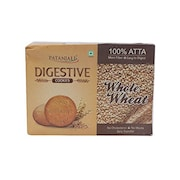 Patanjali Digestive Whole Wheat Cookie (Pack of 2)