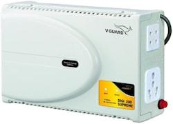 V-Guard Digi 200 Electronic Voltage Stabilizer (Grey)