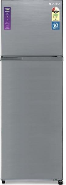 Sansui 308 L Frost Free Double Door 2 Star Refrigerator (310JF2SNDS, Dark Steel)