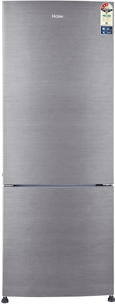 Haier 320 L Frost Free Double Door 3 Star Refrigerator (HRB3404BS, Brushline Silver)