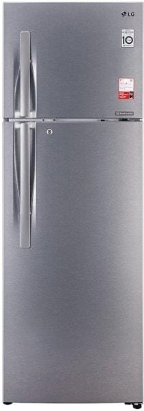 LG 335 L Frost Free Double Door 3 Star Refrigerator (GL T372JDS3, Dazzle Steel)