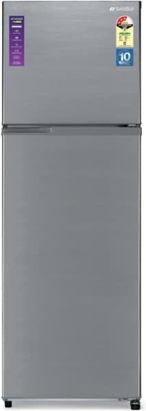 Sansui 338 L Frost Free Double Door 3 Star Refrigerator (340JF3SNDS, Dark Steel)