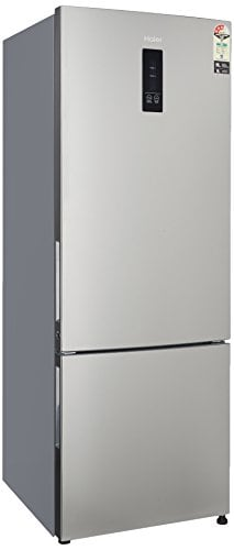 Haier 345 L Frost Free Double Door 3 Star Refrigerator (HRB3654PSSE, Stainless Steel)
