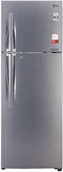 LG 360 L Frost Free Double Door 3 Star Refrigerator (GL T402JDS3, Dazzle Steel)