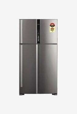 Hitachi 655 L Frost Free Double Door 4 Star Refrigerator (RV720PND1KX)