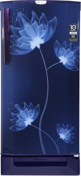 Godrej 190 L Direct Cool Single Door 4 Star Refrigerator (RD 1904 PTDI 43 DI, Glass Blue)