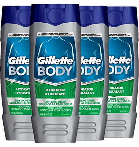 Gillette Dry Skin Hydrator Body Wash (453GM, Pack of 6)