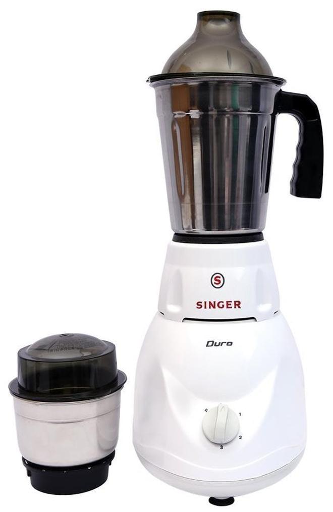 Singer Duro 450W Mixer Grinder (White, 2 Jar)