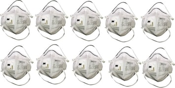 3M Dust Protection Anti Pollution Mask (White, Pack of 10)
