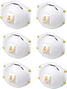 3M Dust Protection Anti Pollution Mask (Pack of 6)