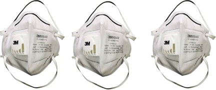 3M Dust Protection Anti Pollution Mask (White, Pack of 3)