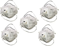 3M Dust Protection Anti Pollution Mask (White, Pack of 5)