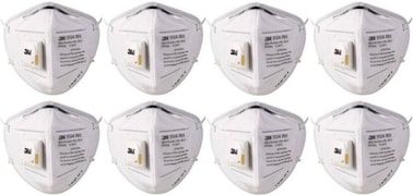 3M Dust Protection Anti Pollution Mask (Pack of 8)