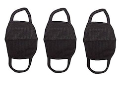 Amour-Propre Dust Protection Anti Pollution Mask (Black, Pack of 3)