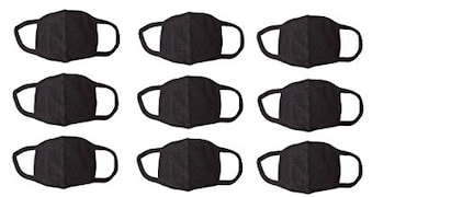 Amour-Propre Dust Protection Anti Pollution Mask (Black, Pack of 9)