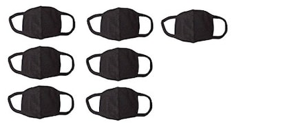 Amour-Propre Dust Protection Anti Pollution Mask (Black, Pack of 7)