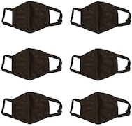 Blinkin Dust Protection Anti Pollution Mask (Black, Pack of 6)