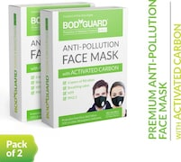Bodyguard Dust Protection Anti Pollution Mask (Pack of 2)