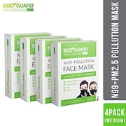 Bodyguard Dust Protection Anti Pollution Mask (Pack of 4)