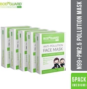 Bodyguard Dust Protection Anti Pollution Mask (Pack of 5)